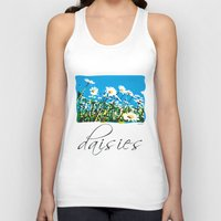 daisies Tank Tops featuring Daisies by Valter Minelli