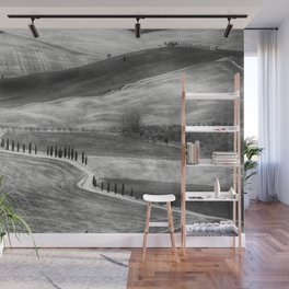 Country Road in Val D'Orcia, Tuscany, Italy Wall Mural