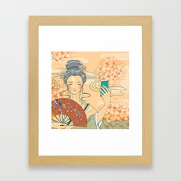 Those who selfie Framed Art Print