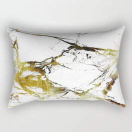 Gold-White Marble Impress Rectangular Pillow