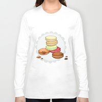 macaroon Long Sleeve T-shirts featuring Macarons | SCARLETTDESIGNS. by ScarlettDesigns