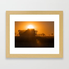 Midsummer time is harvest time of the cereal fields Framed Art Print