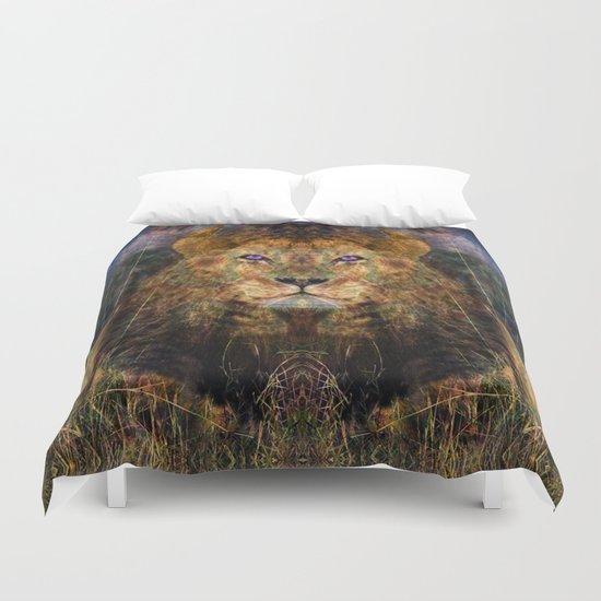 Pacific Lion Duvet Cover