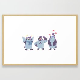 Partners in Crime... And Other Penguin Things Framed Art Print