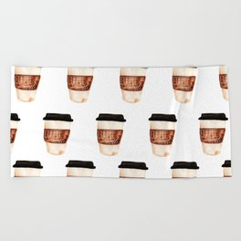 Coffee and Hustle on the Go Beach Towel