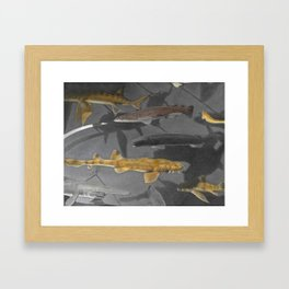 At the Museum_painting Framed Art Print
