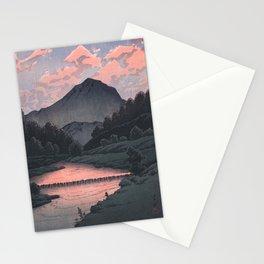 Hasui Kawase, Mount Kamagadake, Hida At Dusk - Vintage Japanese Woodblock Print Art Stationery Cards