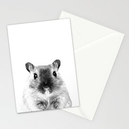 Black and White Hamster Stationery Cards
