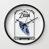 majora Wall Clocks featuring Zelda legend - Ocarina of time by Art & Be