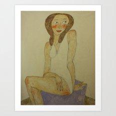 FRENCH MODEL Art Print