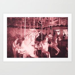 Burlington Carousel Art Print