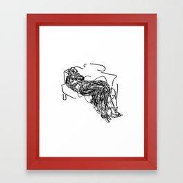 He Turns Framed Art Print
