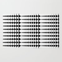 arrows Area & Throw Rugs featuring Arrows by Elisabeth Fredriksson