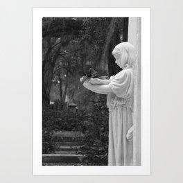 Girl Statue Art Print