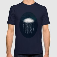 In rain we shine Navy SMALL Mens Fitted Tee