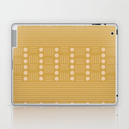 Lines and Circle in Mustard Laptop & iPad Skin