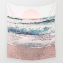 Sea, Salt, Sand and Sun Pastel Vibes Wall Tapestry