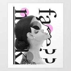 typo woman Art Print