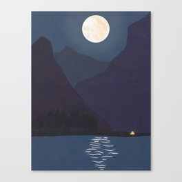 The Mountains At Night Canvas Print