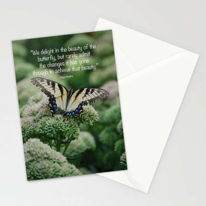 We delight in the beauty of the butterfly.... Stationery Cards