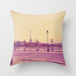 Paris, Glad to See You Again. Throw Pillow