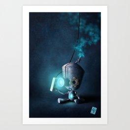 Glow Robot Art Print