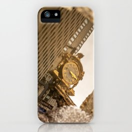 Reflective Clock In Pittsburgh iPhone Case
