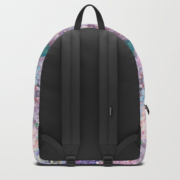 Purple and blue Lilac & Hydrangea - Flower Design Backpack