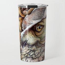 Owl among the Poppies Travel Mug
