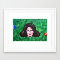 heathers Framed Art Prints featuring Heathers by Portraits on the Periphery