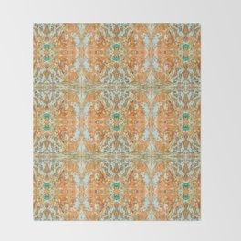 Humming Bird Orange Throw Blanket