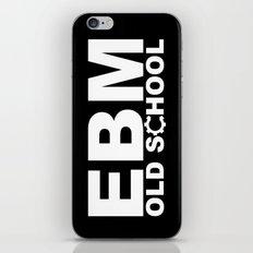 EBM OLD SCHOOL BLACK iPhone & iPod Skin