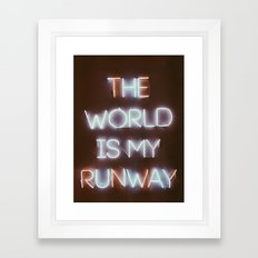 The World is my Runway (color) Framed Art Print