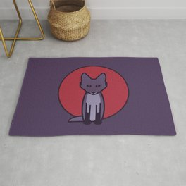 Purple Fox - Kitsune Visits Japan Rug