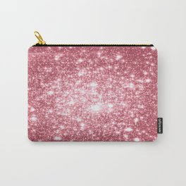 Pink Sparkle Stars Carry-All Pouch