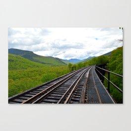 On an outbound train; Canvas Print