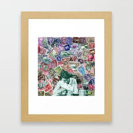 Stamp series no.3 Framed Art Print