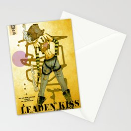 a leaden kiss goodbye Stationery Cards