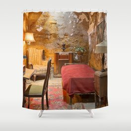 Al Capone's Luxurious Prison Cell Shower Curtain