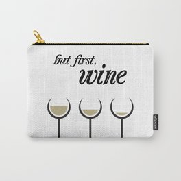 First, White Wine Carry-All Pouch