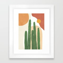 Abstract Cactus I Framed Art Print