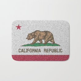 California Flag Distorted Bath Mat