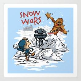 Snow Wars Art Print