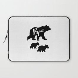 Papa Bear T Shirt with Two Cubs Laptop Sleeve