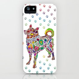 Flowery Dog iPhone Case