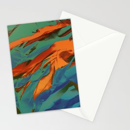Green, Orange and Blue Abstract Stationery Cards