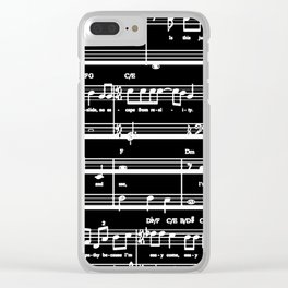 Music sheet Clear iPhone Case
