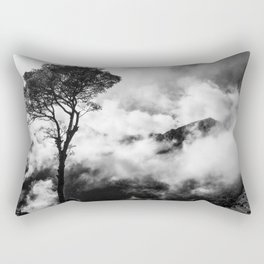 Black & White tree in the clouds Rectangular Pillow
