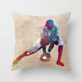 Baseball player 3 #baseball #sport Throw Pillow