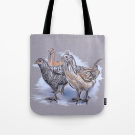 Trio of Young Chickens Tote Bag